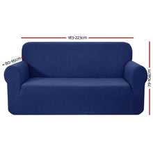 Load image into Gallery viewer, Sofa Cover, High Stretch, 3 Seater, Navy
