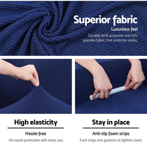 Sofa Cover, High Stretch, 3 Seater, Navy