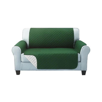 Sofa Cover, Quilted, 2 Seater, Green