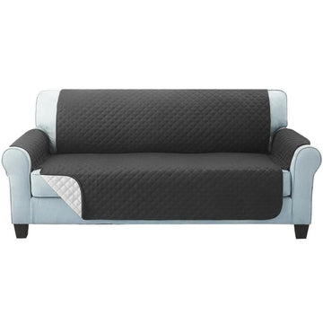 Sofa Cover, Quilted, 3 Seater, Dark Grey