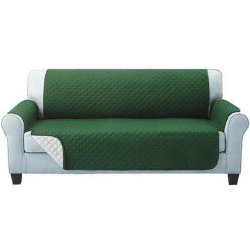 Sofa Cover, Quilted, 3 Seater, Green