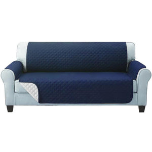 Artiss Sofa Cover Quilted Couch Covers Protector Slipcovers 3 Seater Navy