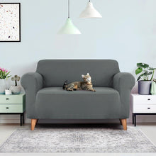 Load image into Gallery viewer, Sofa Cover Elastic Stretchable Couch Cover, Grey, 2 Seater