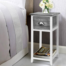 Load image into Gallery viewer, Valerie Bedside Table, Wooden, Grey