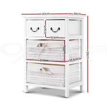 Load image into Gallery viewer, White Blaise Wooden Storage Rack with Baskets