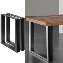 Load image into Gallery viewer, Coffee Dining Table Legs, Steel, Box Shape, 710mm (Set of 2)