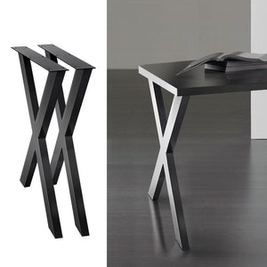 Coffee Dining Table Legs, Steel, X Shape, 710mm (Set of 2)