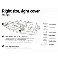 Load image into Gallery viewer, Waterproof Boat Cover, Grey, 25 - 27ft.