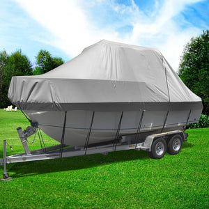 Waterproof Boat Cover, Grey, 25 - 27ft.