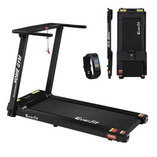 Load image into Gallery viewer, Everfit Electric Treadmill Home Gym Exercise Running Machine Fitness Equipment Compact Fully Foldable 420mm Belt Black