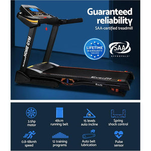 Treadmill, Electric, 15-Level Auto Incline