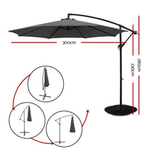 Load image into Gallery viewer, Outdoor Cantilever Umbrella, 8-Rib, Charcoal