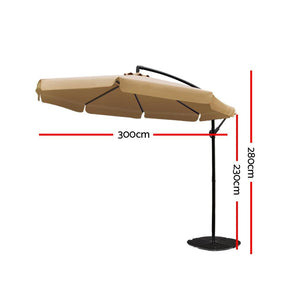Sun Hut Outdoor Umbrella, Beige