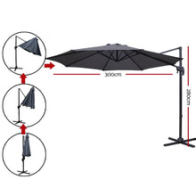Load image into Gallery viewer, Roma Deluxe Cantilever Umbrella, Charcoal
