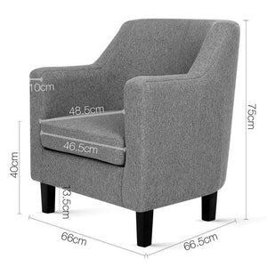 Adell Dining Armchair, Grey