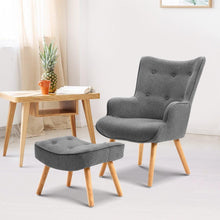 Load image into Gallery viewer, Lansar Chair & Ottoman Set, Grey