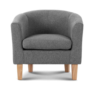 Alby Tub Chair, Fabric, Grey