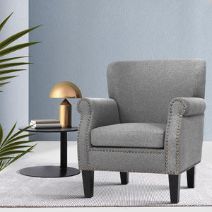 Oliver Armchair, Grey