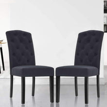 Load image into Gallery viewer, Tondo Dining Chairs, Fabric, Dark Grey (Set of 2)