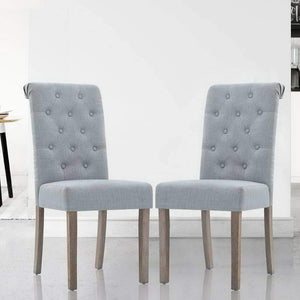Tondo Dining Chairs, Fabric, Light Grey (Set of 2)