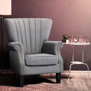 Harper Armchair, Fabric, Grey