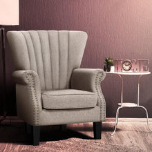 Load image into Gallery viewer, Harper Armchair, Fabric, Beige