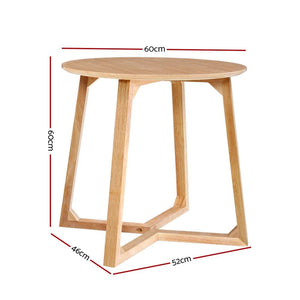 Percy Side Table, Wood, Beige