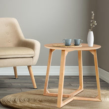 Load image into Gallery viewer, Percy Side Table, Wood, Beige