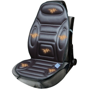 Universal Back Support Massage With 6 Motors And Heating - BLACK