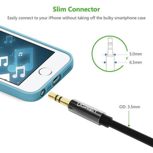3.5mm Male to 3.5mm Male Audio Cable, 1m