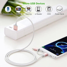 Load image into Gallery viewer, Micro-USB to USB Cable with Lightning Adapter, 1m