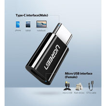 Load image into Gallery viewer, UGREEN USB 3.1 Type-C to Micro USB Adapter - Black (30865)