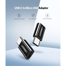 Load image into Gallery viewer, USB 3.1 Type-C to Micro USB Adapter, Black