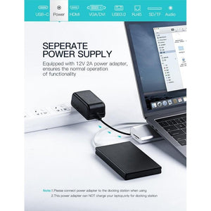 USB-C Multifuntional Docking Station, Sliver