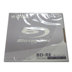 Ritek Blu-Ray BD-RE Rewritable 25GB 2X 130Min Jewel Case