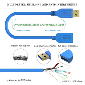 Simplcom CA315 1.5M 4FT USB 3.0 Super Speed Extension Cable