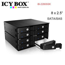 "Load image into Gallery viewer, ICY BOX IB-2280SSK - Backplane for 8x 2.5"" SATA/SAS HDD and SSD"