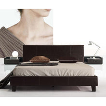 Load image into Gallery viewer, Bed Frame, PU Leather, Brown, Double