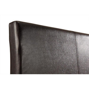 Bed Frame, PU Leather, Brown, Double