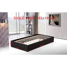 Load image into Gallery viewer, Ensemble Bed Frame, PU Leather, Single