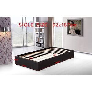 Ensemble Bed Frame, PU Leather, Single