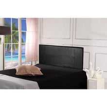 Load image into Gallery viewer, PU Leather Double Bed Headboard Bedhead - Black