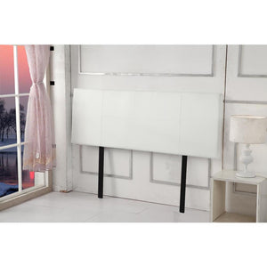 Headboard, PU Leather, White, Queen