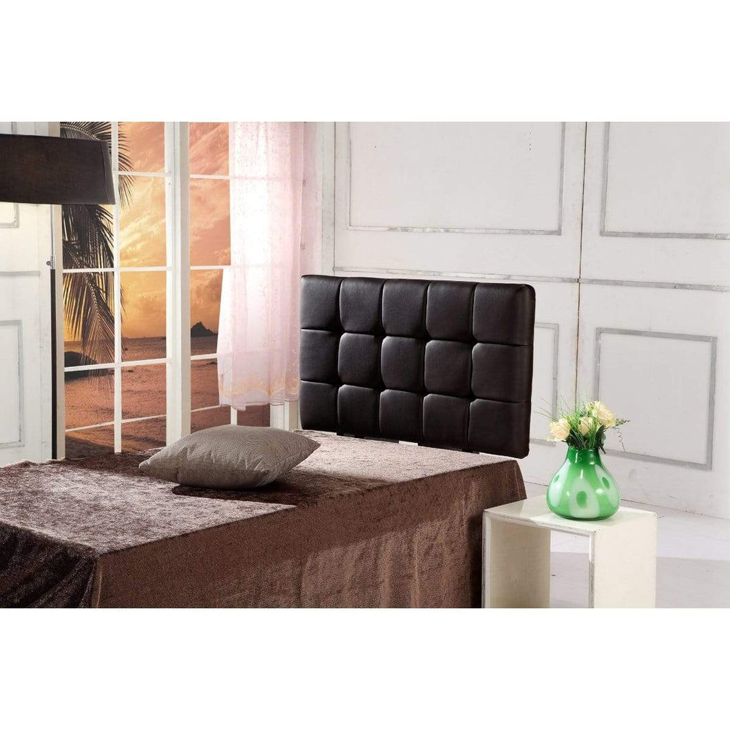 PU Leather Single Bed Deluxe Headboard Bedhead - Black