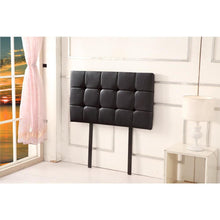 Load image into Gallery viewer, Headboard, PU Leather, Deluxe, Black, Single
