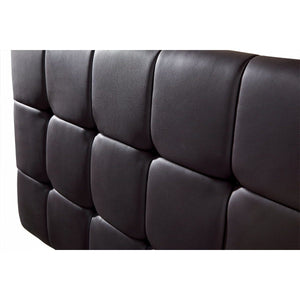 Headboard, PU Leather, Deluxe, Black, Single