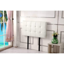 Load image into Gallery viewer, Headboard, PU Leather, Deluxe, White, Single