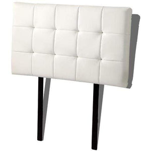 Headboard, PU Leather, Deluxe, White, Single