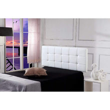 Load image into Gallery viewer, PU Leather Double Bed Deluxe Headboard Bedhead - White