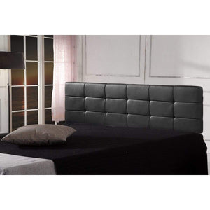 PU Leather King Bed Deluxe Headboard Bedhead - Black